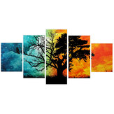5 Pcs Wall Decoration Painting Art Four Seasons Tree Pictures Canvas Prints Home Office Decoration Living Room Modular Paintings