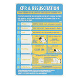 600x400mm Plastic CPR & Resuscitation Chart DRSABC Pool Spa Safety Sign Wall Sticker