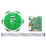 ReSpeaker 6-Mic Array AI Voice Sextuple microphone Round Expansion Board for Raspberry Pi 4B