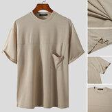 T-shirt décontracté à col rond T-shirt décontracté Hauts pour hommes confortables et respirants à manches courtes