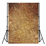 3X5ft Vinyl Golden błyszczy Fotografia Tło Photo Studio Prop
