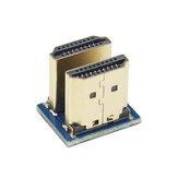 Rasperry Pi 3B + için Catda Micro HDMI 1.4 HD Adaptör Erkek - Erkek İki Yönlü Adaptör