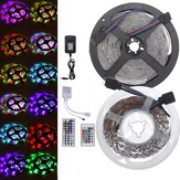 DC12V 2835SMD 5M 300LED Strip Light Waterproof Non-waterproof RGB Lamp + 24/44 key IR Controller+ Power Adapter