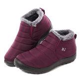 LOSTISY Waterproof Warm Lining Winter Snow Ankle Casual Women Boots