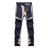 Mens Casual Outdoor Quick-dry Contrast Color Pants