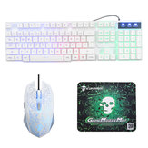 Rainbow Backlight USB Wired Gaming Клавиатура 2400DPI LED Мышь Комбинация с Мышь Pad