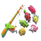 7 / 12Pcs المغناطيسي أدوات صيد السمك كيت الأسماك كتل الخضروات لعب للأطفال هدية مجموعة
