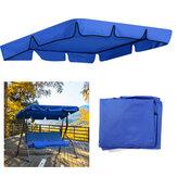 2/3 posti Blu a prova di UV per esterni da giardino, altalena, parasole, copertura, copertura superiore del sedile a baldacchino impermeabile