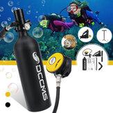 DCCMS 1L juego de tanque de buceo tanque de aire bomba de mano válvula de respiración al aire libre natación snorkel respiración equipo de buceo