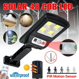 Outdoor 48LED COB Solar Light Motion Sensor IP65 Waterproof Street Wall Lamp With/Without Remote Control