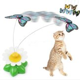 Funny Pet Cat Kitten Toys Electric Rotating Butterfly Rod Pet Cat Teaser Play Toy