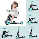 [FROM ] BEBEHOO 5 In 1 Multifunctional Deformation Tricycle Kids Scooter Max Load 20kg Children Balance Bike Three-wheeled Bike