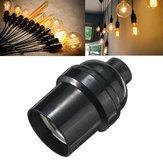 E27 / E26 Suporte da lâmpada da lâmpada Pingente Tampa de rosca Edison Tomada Vintage Preto 4A