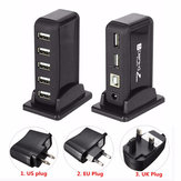 HOT 7 Port USB 2.0 Hi Speed Multi Hub Expansion With Power Adaptor