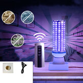 70W UV Disinfection Lamp Ultraviolet E27 LED Bulb Indoor Lighting + Remote Control + Base + Cable Line AC110-240V