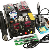 Saike 220V 909D+ Rework Soldering Station Hot Heat Air Nozzle DC USB Power Supply 220V AC EU Plug