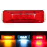 3 LED 12V Truck Trailer Lorry Side Marker Light Lamp Red Amber White