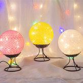 LED Lino Rattan Ball Light USB Creative Romantic Night lampada