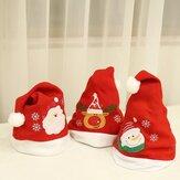 大人の子供たちのクリスマス帽子サンタスノーマントナカイ帽子ノエルフェスティバルクリスマスパーティークリスマスデコレーションコスチューム