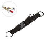 Outdoor Multi-function Ribbon Keychain EDC Tactical Key Ring Camping Hunting Key Chain