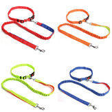 Pet Dog Leash Traction Rope Running Belt Reflective Elastic Hands Walk Use Solid Adjust Collars Outdoor Pet Supplies