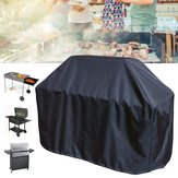163x61x122cm Black BBQ Grill Barbecue Waterproof Covers Yard Outdoor Cooking Rain Protector