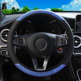 Capa protetora de volante de carro em fibra de carbono universal de couro PU