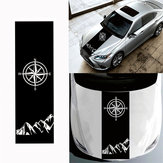 130x40cmBússolaPadrãoCapôDo Carro Adesivos de Vinil Decalques Universal para Jeep para Wrangler Rubicon JK C