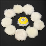 11pcs 3 Inch Woolen Polishing Pad and Buffing Pad Set for Car Polisher