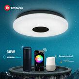 OFFDARKS Luz de teto moderna inteligente LXD-WF-XGP-36 Controle de voz Wifi Adequado para Sala de estar Quarto Cozinha Escurecimento da cor LED Lâmpada do teto