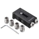 6/8/9.5mm Pocket Hole Jig System Kit Adjustable Aluminum Alloy Oblique Hole Positioning Locator Drill Guide Woodworking Tool