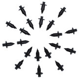 20pcs 7mm Moto Béquille Rivet Trim Panel Attache Clips Plastique Pour Suzuki Trim