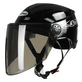 Nuoman 316 Motorcycle Half Face Helmet Electric Scooter Bicycle Helmet With Visor Lens