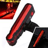 XANES TL12 3528LED / LD 6 Modos de Carregamento USB IPX5 À Prova D 'Água Aranha Lasers Bicicleta Luz Da Cauda
