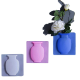 Creative Magic Rubber Wall Vase Silicone Sticky Flower Container Bottle