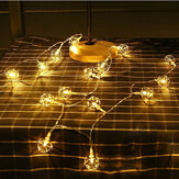 KCASA 10 LED Metal Polygon String Lights LED Fairy Lights for Festival Christmas Halloween Party Wedding Decoration Battery Powered