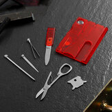 VOLKEN 13-IN-1 Card Shape EDC Tools Kit Embedded Knife Screwdriver Scissor Toolbox For Outdoor Survival Hunting Camping