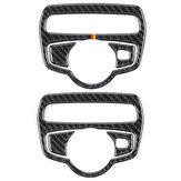 Carbon Scheinwerfer Schalter Abdeckung Trim Aufkleber Für Mercedes C-Klasse C180 C200 W205 GLC
