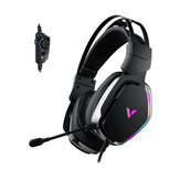 RAPOO VH710 Gaming Headset Virtual 7.1 Channel Customized drive ENC Noise Reduction Microphone 50mm High-quality Unit RGB Light Wired Control