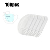 100Pcs 3-Layers Masks Disposable Pads PM2.5 Filter Mat Anti Dust Haze Breathable Mouth Face Mask Replacement Gasket