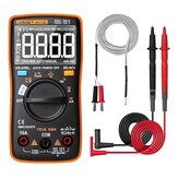ANENG AN113D Intelligent Auto Measure True- RMS Digital Multimeter 6000 Counts Resistance Diode Continuity Tester Temperature AC/DC Voltage Current Meter Upgraded from AN8002 - Orange