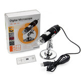 1600X Zoom 8 LED Microscopio Digital USB de Mano Endoscopio Biológico con Soporte