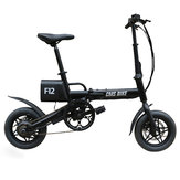 CMSBIKE F12 36V 6.6AH 250W Black 12 Inches City Folding Electric Bicycle 20km/h 50KM Mileage E Bike