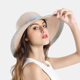 Vrouw Solid Bow Travel Holiday Sun Seaside Hat