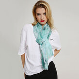 Women's Linen Chiness Watercolor Scarf Lightweight Shawl