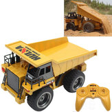 HuiNa Legetøj 540 1/18 2.4G 6CH Elektrisk Rc Bil Dump Truck Alloy Engineering Vehicle