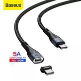 [2 Pack] Baseus 100W Zinc Magnetic USB-C to USB-C Data Cable PD QC Fast Charging Data Transmission Cord Line 1.5m Long For Huawei P30 P40 Pro Mi10 OnePlus 8Pro For iPad Pro 2020 Air 2020 MacBook Air 2020
