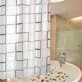 Kalınlık Duşlu Duş Perdesi Banyo Su Geçirmez Kumaş Banyo Perdesi