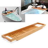 Bathroom Bamboo Bath Shelf Caddy Wine Holder Tub Tray Over Bathtub Rack Support Storage
