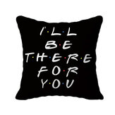 1pc Black Letters Printed Pillow Cases Cover Living Room Decorative Pillows Cover Accessory Household Textile Supplies